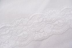 Lace elastic white 10cm