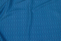 Turqoise, woven cotton with navy line-pattern
