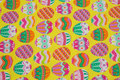 Yellow easter cotton with eggs