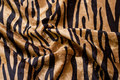 Tiger-velvet in beige and black with beautiful print