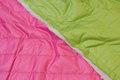 Doublesided quilt in beautiful, strong-color pink and lime.