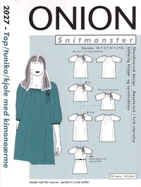 Onion pattern: Top, tunic, dress with kimono sleaves