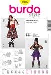 Burda 2385. Gothic Girl, Gypsy Blouse, Swingy Skirt, Corset.