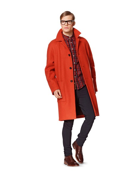 Short Men's Coat, Jacket, Blouson with ribbed wrist band