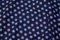 Navy cotton with 15 mm flowers