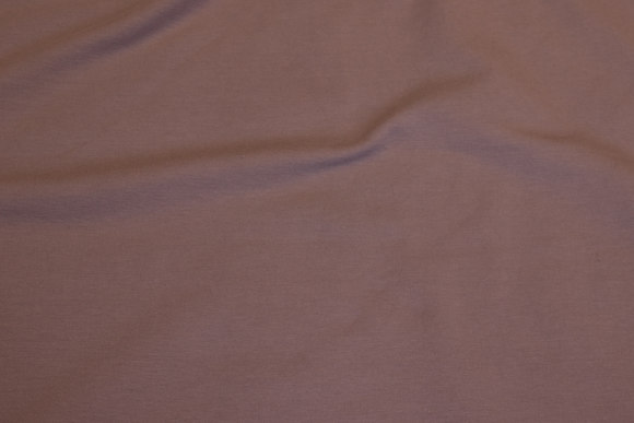 Lightweight sweatshirt fabric with dusty brown and old rose hue