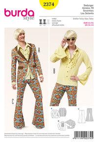 Burda pattern: 70s Party Suit, Men
