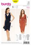 Jersey Dress, Wrap-Effect, Gathered Side