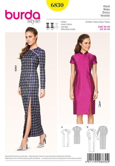 Dress, Asia-Style, One-sided Yoke