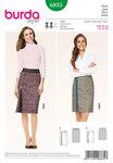 Skirt with Hip Yoke, Decorative Zipper