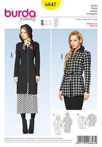 Burda pattern: Zipper Jacket, Hood