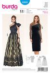 Evening gown, Sportily elegant, short black evening dress