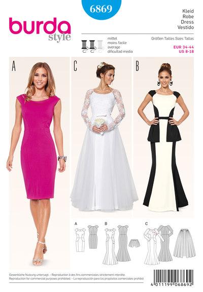Dress, Wedding Gown, Overskirt
