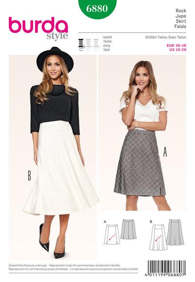 Skirt, Gored Skirt, flared shape