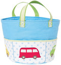 All about cars for little boys.The padded blanket in the shape of a bus is the highlight in every play room. Two matching cushions are waiting for children to play on them, too. And at the end of the day, everything is tucked away in the big bag.