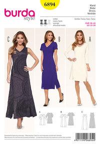 Burda pattern: Dress, Section Seams, V-Neck