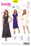 Burda 6894. Dress, Section Seams, V-Neck.