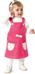 Three variants of pants with side closure and patched pockets, to be mixed and matched indefinitely. The cute pinafore dress with bib-top and side closure, too, will certainly become a favorite piece of fashion for little girls.