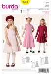 Burda 9431. Dress, Box Pleats.