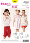 Burda 9432. Sleepwear: Nightgown, Pajamas.