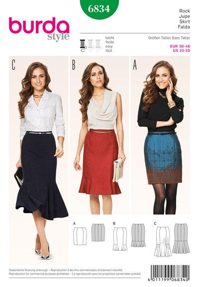 Gored Skirt, Hem Flounces