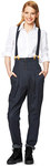 Pants with waistband pleats, Marlene-Dietrich-Pants, Braces