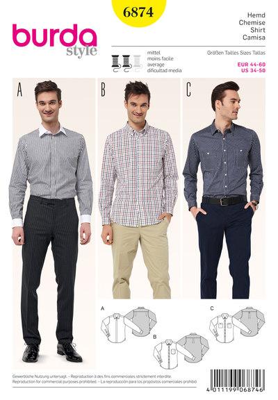 Men´s Shirt, various collar solutions