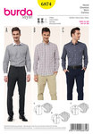 Burda 6874. Men´s Shirt, various collar solutions.