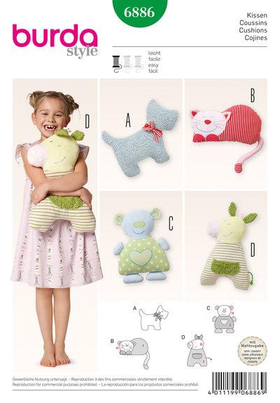 Fluffy Pillows: Dog, Cat, Bear, Little Horses