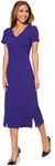 Dress, Section Seams, V-Neck