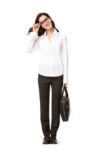 Blouse, Plastron with pleats, Vintage Shirt-Blouse. Burda 7136.