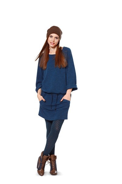 Hooded Shirt, Sweatshirt Dress, Skirt with cord tie casing