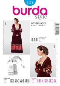 History Dress, Renaissance. Burda 7171.