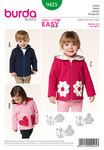 Three smart jackets, alternatively with standing collar or hood. Boys will love variant A with the functional slant pockets. Variants B and C for girls have decorative pockets in the shape of flowers or hearts.