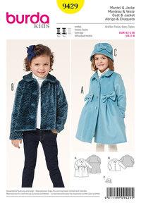 Coat, Jacket, Peter Pan Collar. Burda 9429.