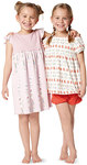 Nice and cozy sleepwear to feel at ease and quickly sewn. Night gown with wing sleeves and two pajamas with different tops and either long or short pull-on pants. Brightly colored jerseys with floral prints, dots or stripes, boosting mood.