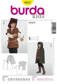 Robin, Cape, Doublet. Burda 9472.