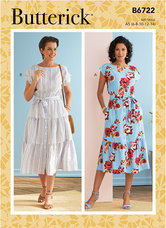 Dresses. Butterick 6722.