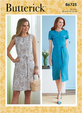 Dresses. Custom Cup Sizes. Butterick 6725.