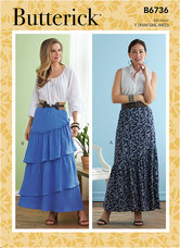 Skirts. Butterick 6736.