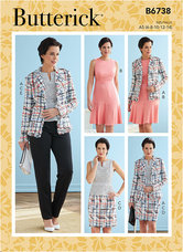 Jacket, Dress, Top, Skirt and Pants. Butterick 6738.
