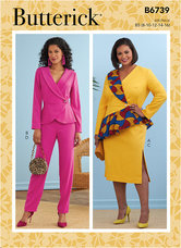 Jacket, Dress, Top, Skirt and Pants. Butterick 6739.