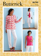 Jacket, Coat, Top and Pants. Butterick 6740.
