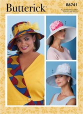 Hats With Ribbon, Flowers and Bow. Butterick 6741.