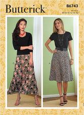 Petite Gored Skirts. Butterick 6743.