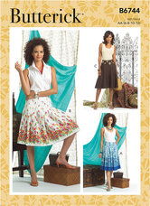 Pleated or Flared Skirts. Butterick 6744.