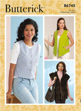 Vests in Five Styles. Butterick 6745.