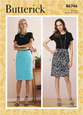 Straight Skirts and Belt. Butterick 6746.