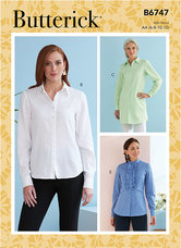 Button-Down Collared Shirts. Butterick 6747.