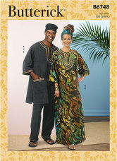 Mens Tunic, Caftan, Pants, Hat and Head Wrap. Butterick 6748.